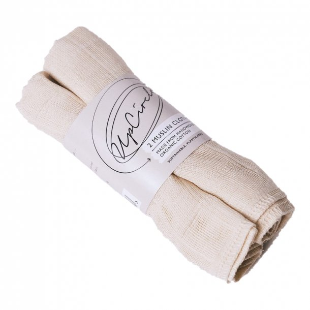 UpCircle Organic Muslin Cloths - 2 stk