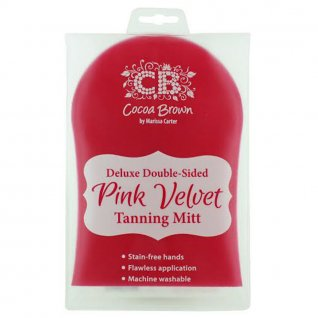Cocoa Brown Deluxe Double-Sided Velvet Tanning Mitt