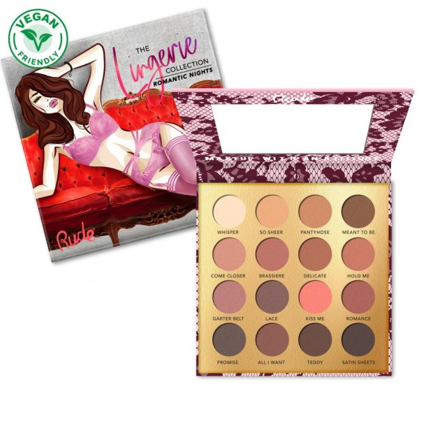 RUDE Lingerie Coll. - 16 Matte Eyeshadow Palette - Romantic Night